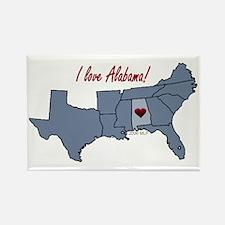 Alabama-South Rectangle Magnet