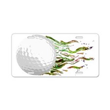 Flaming Golf Ball Club PGA  Aluminum License Plate