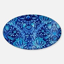 Floral fabric design BLUE Decal