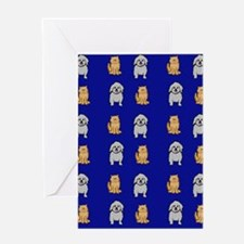 Cute Cats and Dogs Greeting Card