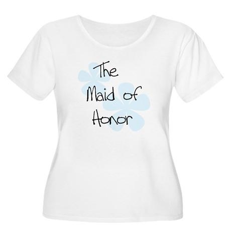 Maid Honor Blue Women's Plus Size Scoop Neck T-Shi