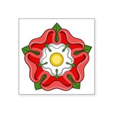 "Tudor Rose Square Sticker 3"" x 3"""