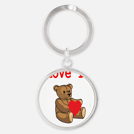 I love you Round Keychain