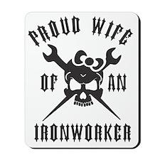 IRONWORKER WIFE LOGO BLACK Mousepad