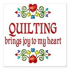 "Quilting Joy Square Car Magnet 3"" x 3"""