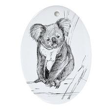 Koala Oval Ornament
