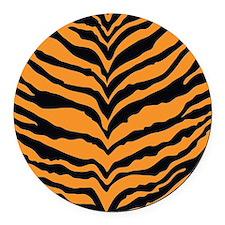 Tiger Print Round Car Magnet