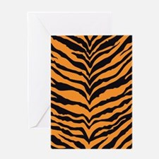 Tiger Print Greeting Card