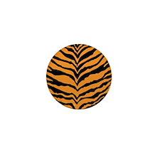 Tiger Print Mini Button