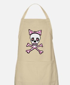 Cute Girly goth punk skull Apron