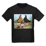 Shortfaced Tumbler Pigeons Kids Dark T-Shirt