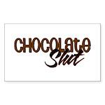 Chocolate Slut Rectangle Sticker