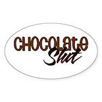 Chocolate Slut Oval Sticker