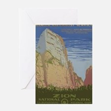 Zion National Park Vintage Poster Greeting Card
