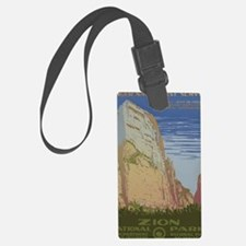 Zion National Park Vintage Poste Luggage Tag