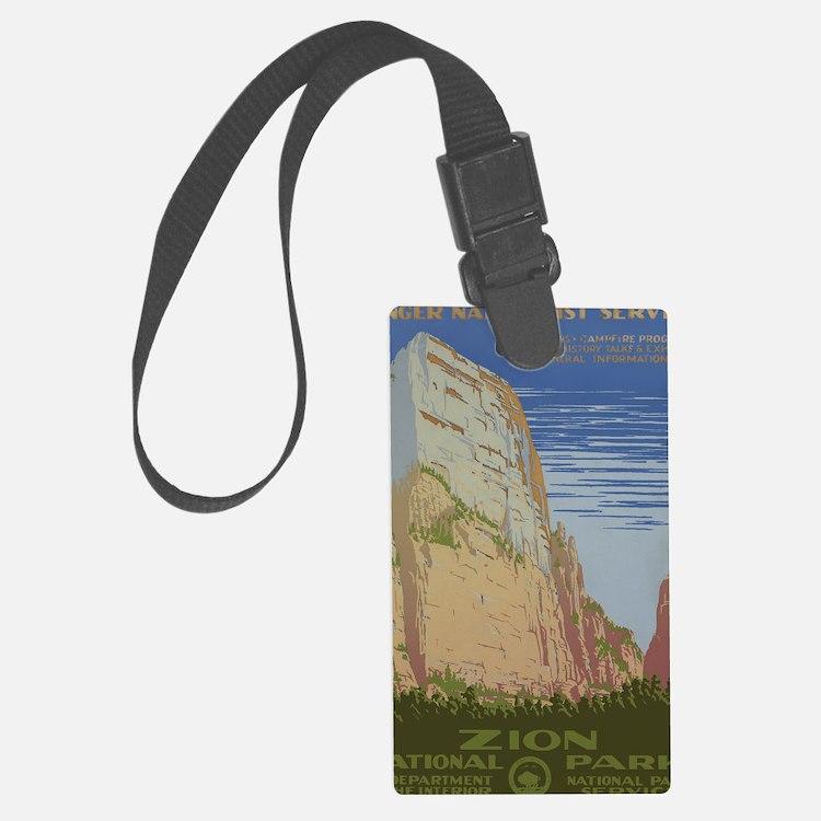 Zion National Park Vintage Poste Luggage Tag