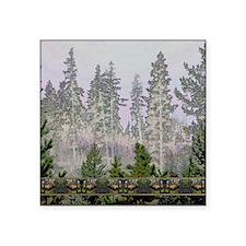 """Sunrise forest bull elk Square Sticker 3"""" x 3"""""""