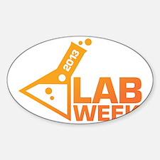 LabWeek 2013 SXS Orange Sticker (Oval)
