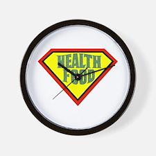 Super Health Food Wall Clock