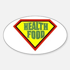 Super Health Food Oval Decal