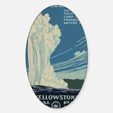 Yellowstone National Park Sticker (Oval)