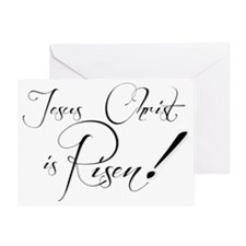 christ is risen excl purple Greeting Card