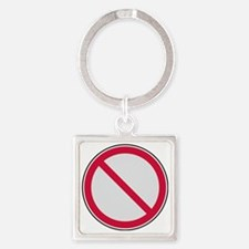 prohibition_sign Square Keychain