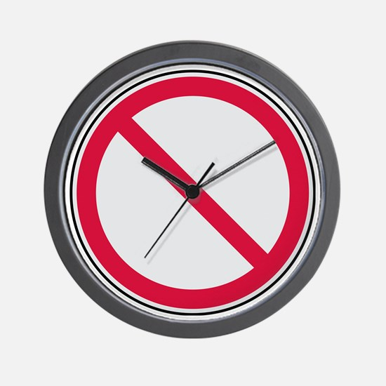 prohibition_sign Wall Clock
