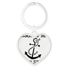 Jesus is my Anchor Black JailBird J Heart Keychain
