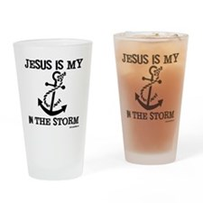 Jesus is my Anchor Black JailBird J Drinking Glass