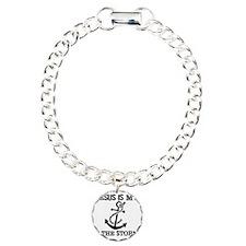 Jesus is my Anchor Black Bracelet