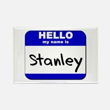hello my name is stanley Rectangle Magnet