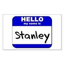 hello my name is stanley Rectangle Decal