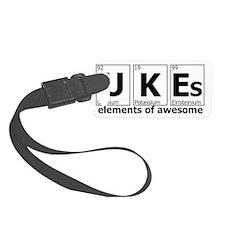 ukes elements of awesome white Luggage Tag