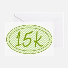 15k Green Chevron Greeting Card