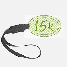 15k Green Chevron Luggage Tag