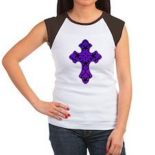 Damask Cross - Gradient Women's Cap Sleeve T-Shirt