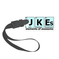 UKEs - Elements of Awesome (cyan Luggage Tag