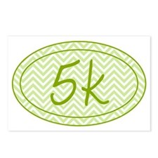 5k Green Chevron Postcards (Package of 8)