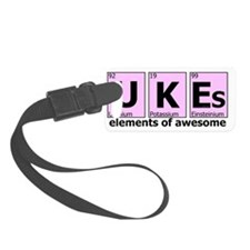 UKEs Elements of Awesome (pink) Luggage Tag