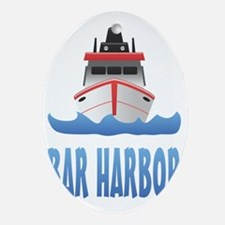 Bar Harbor Boat Front Oval Ornament