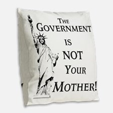 Not Your Mother Burlap Throw Pillow