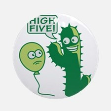 cactus_high_five Round Ornament