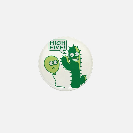 cactus_high_five Mini Button