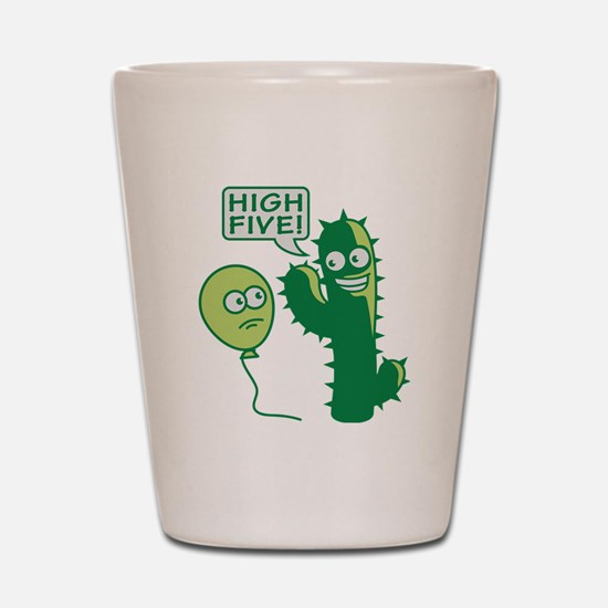 cactus_high_five Shot Glass