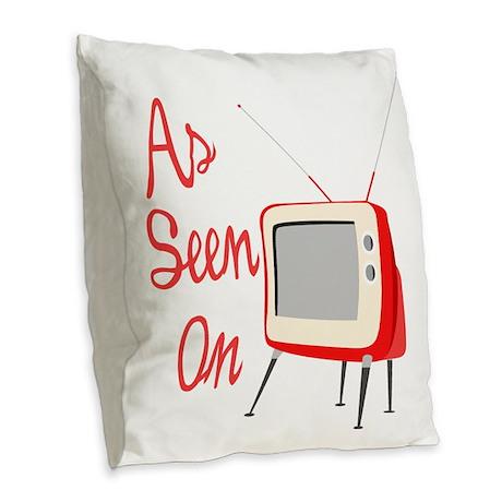 As Seen On TV Burlap Throw Pillow