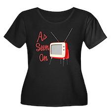 As Seen  Women's Plus Size Dark Scoop Neck T-Shirt