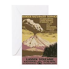 Lassen Volcanic National Park Vintag Greeting Card