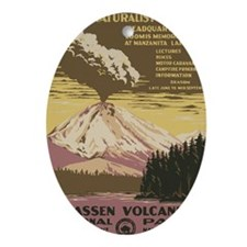 Lassen Volcanic National Park Vintag Oval Ornament