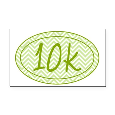 10k Green Chevron Rectangle Car Magnet
